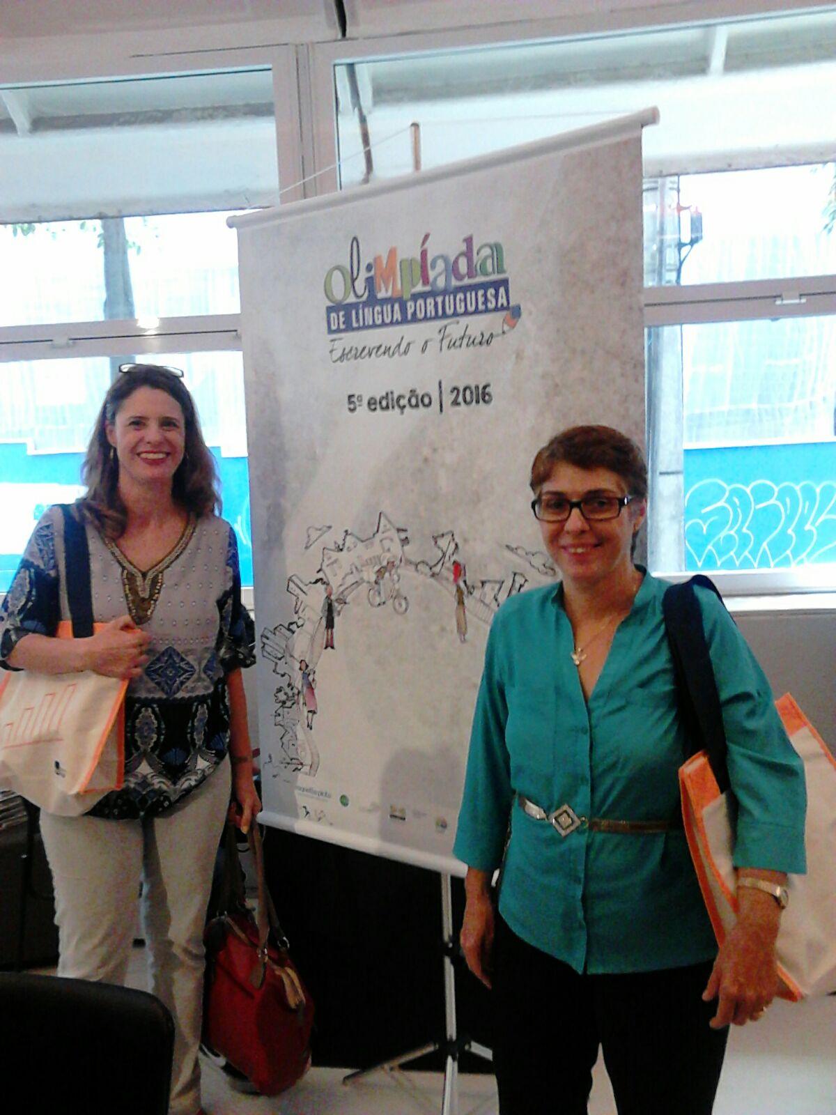 Kelly Cristina Munhoz Arduino e Sevane Maria Cortijo Costa Pinheiro, representando a Secretaria Municipal de Educação de Campinas